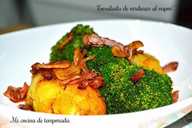 Ensalada de verduras al vapor 1