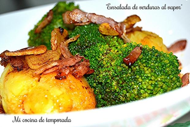 Ensalada de verduras al vapor 2