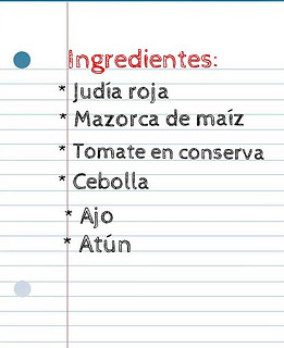 ingredientes ensalada judias