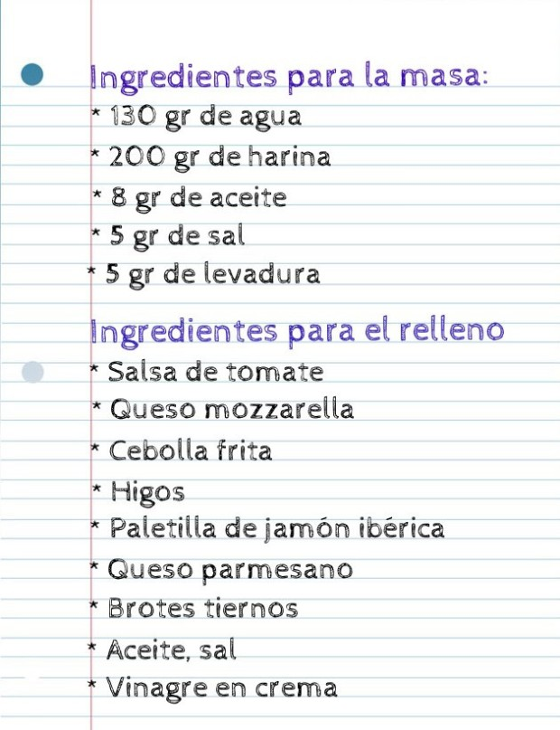 Ingredientes pizza salad