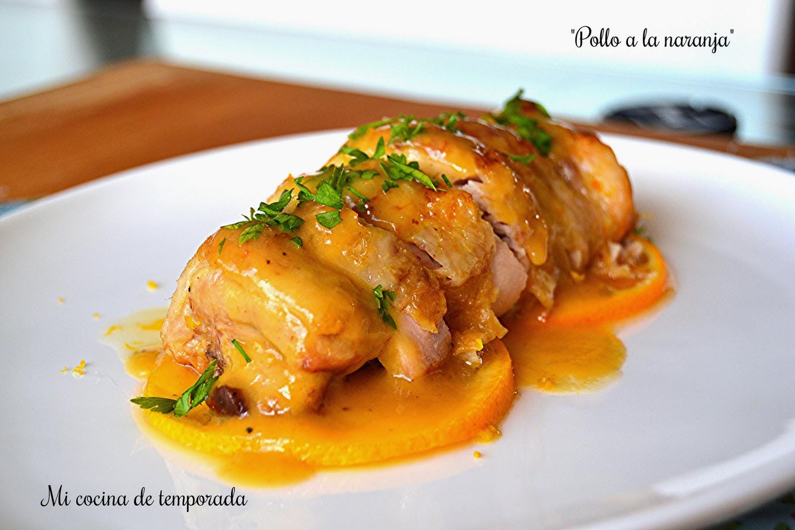 Pollo a la naranja receta ligera mi cocina de temporada for Cocinar 2 muslos de pollo