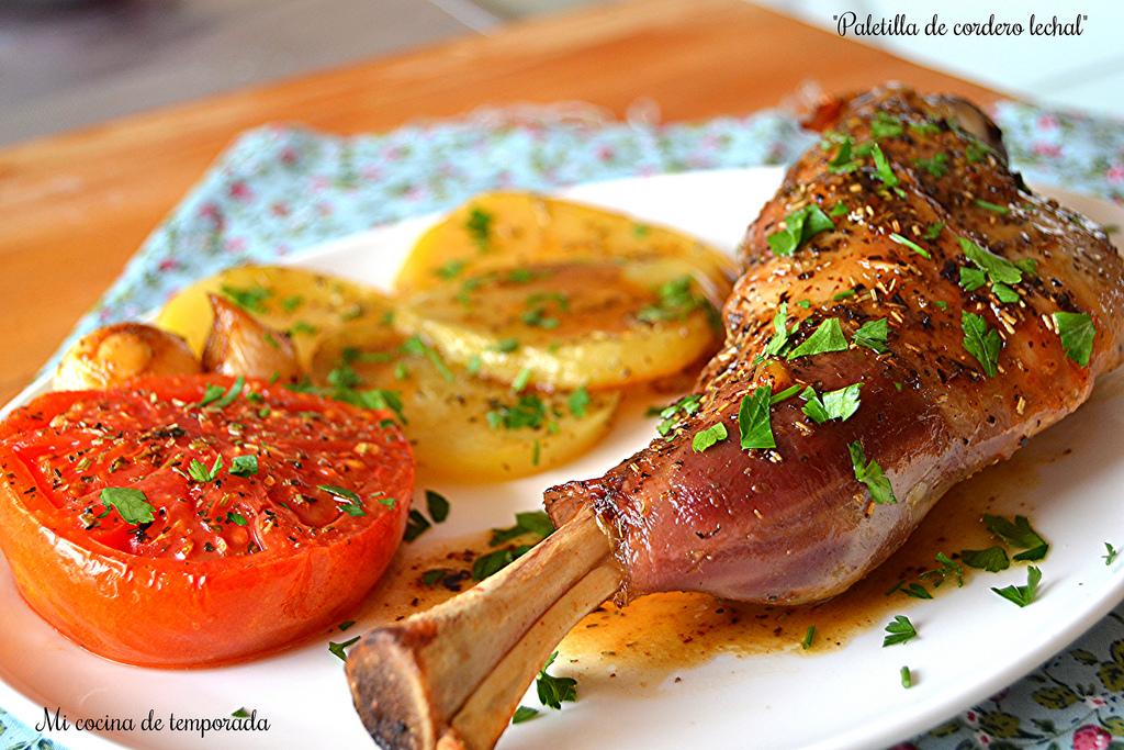 Paletilla de cordero lechal mi cocina de temporada for Cocinar paletilla de cordero